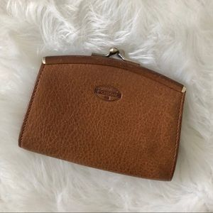 Fossil Vintage Brown Leather Coin Purse Wallet